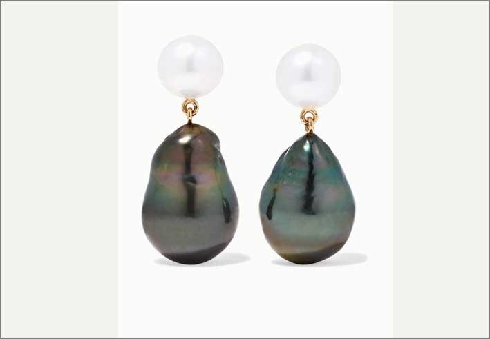 Orecchini in oro 14 carati con perle barocche