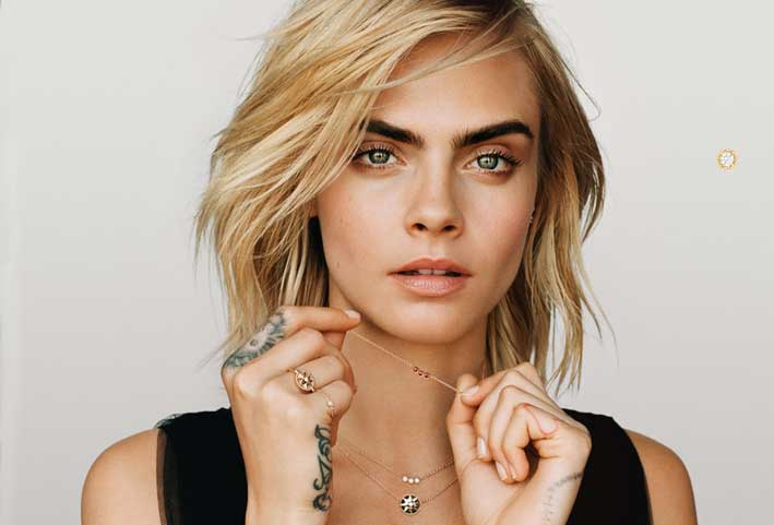 The new Dior jewels have the face of Cara Delevigne