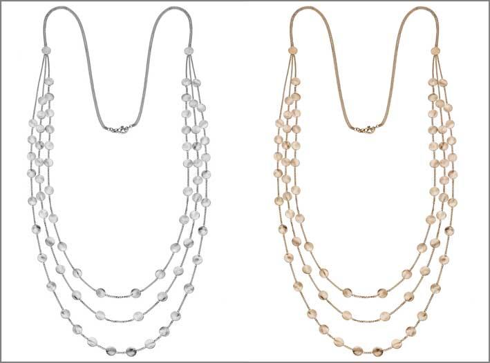 Collane in argento della collezione Flashes