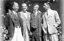 I tre fratelli Cartier con il padre nel 1922. Da sinistra, Pierre, Louis, Alfred e Jacques Cartier. Credit: Archivi della famiglia Cartier