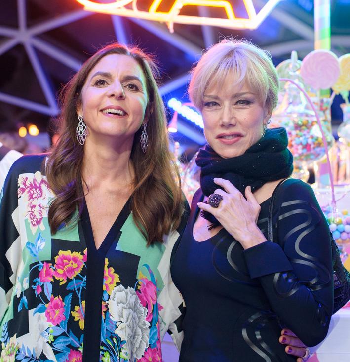 Licia Mattioli (a sinistra) con Nancy Brilli
