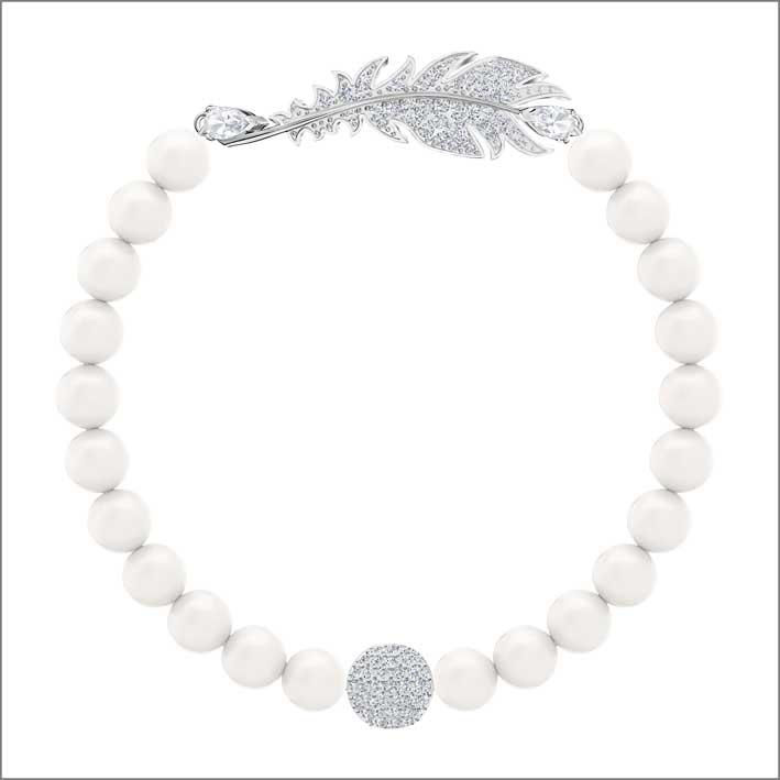 Bracciale con perline e cristalli