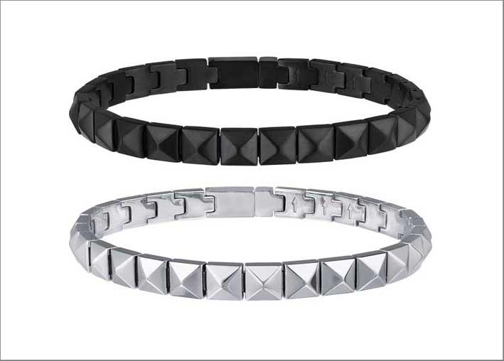 Due bracciali in acciaio e Ip black