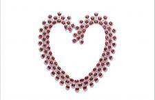 Chopard, collana a forma di cuore con rubini e diamanti
