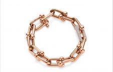 Bracciale in oro rosa e diamanti della collezione City Hardwear di Tiffany