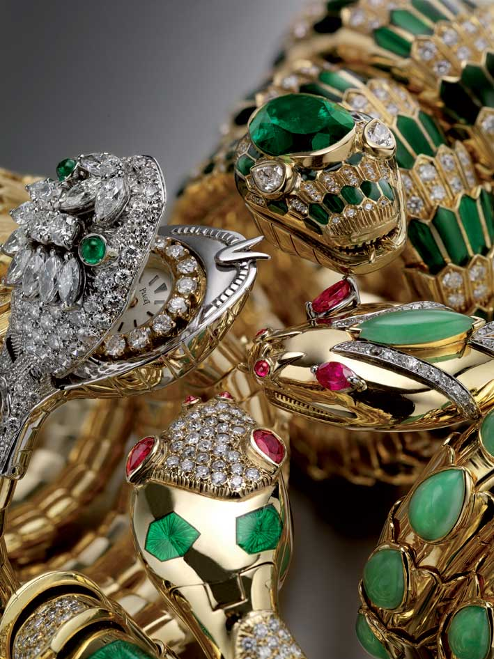 Composit of Serpenti bracelet-watches from the 1960s, Bvlgari Heritage Collection