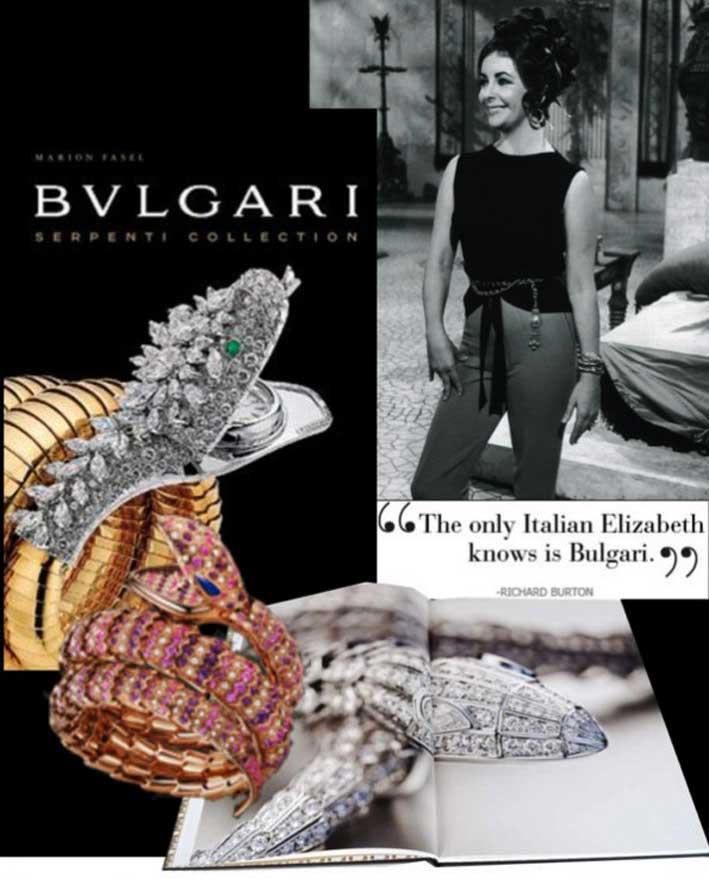 Pubblicità di Bulgari con Liz Taylor
