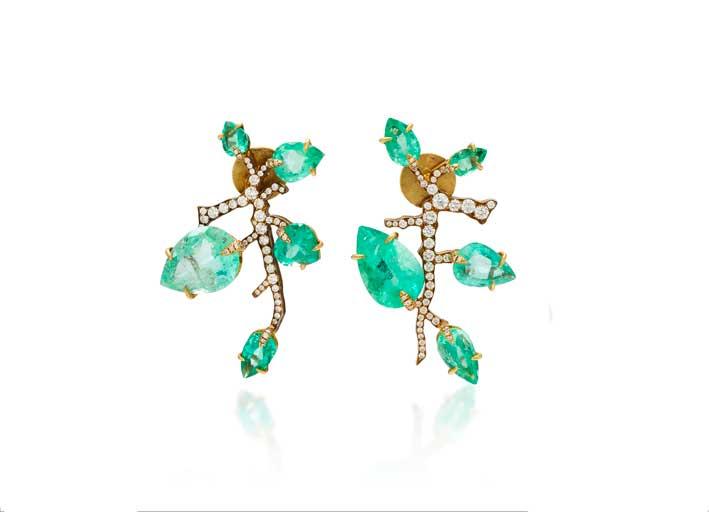 Orecchini con smeraldi colombiani