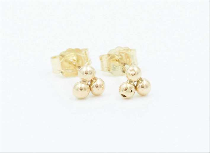 Orecchini in oro riciclato 14 carati