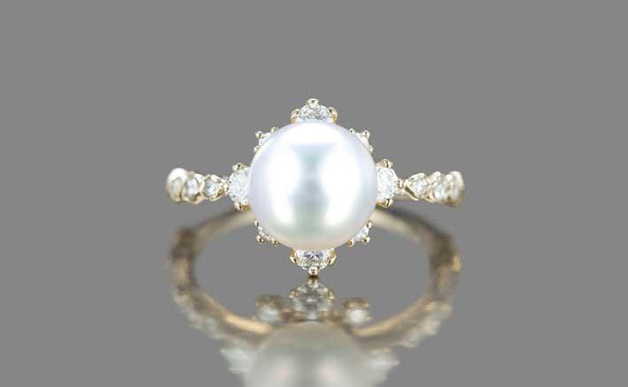 Il Pearl Snowflake Ring Supreme