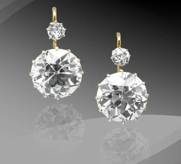 Bouisset, orecchini con diamanti Dormeuse