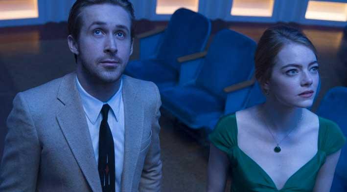 Emma Stone con Ryan Gosling in «La La Land»