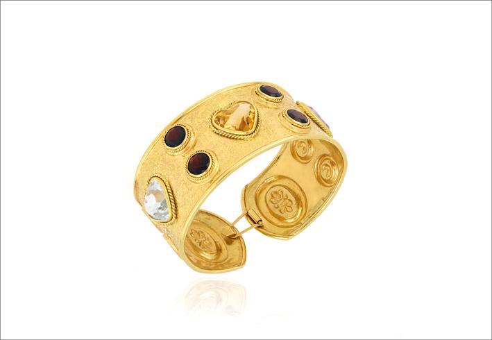 Bracciale in oro e pietre