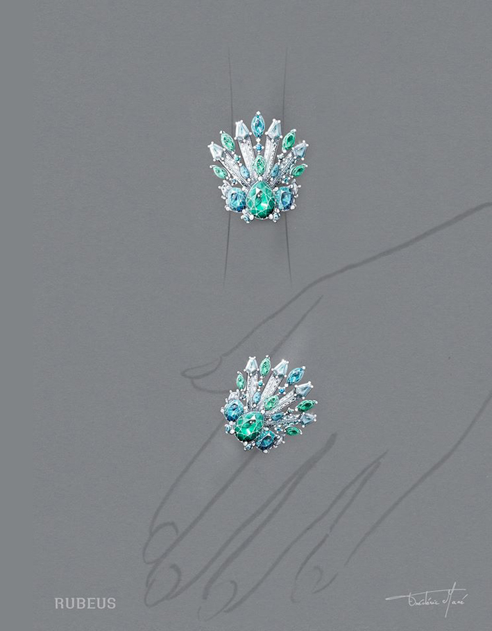 Due guache per un anello della linea Crystal palace di Rubeus