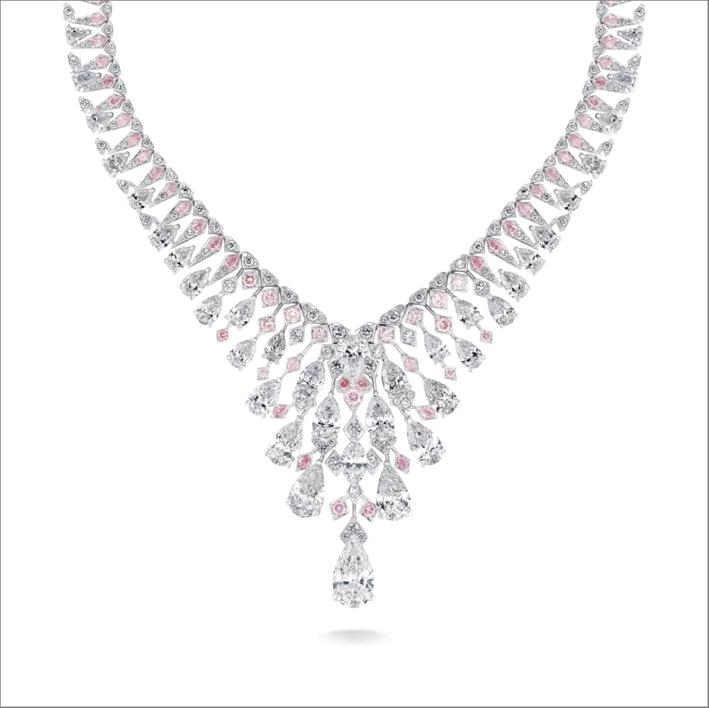 Collana Chrysalis con diamanti taglio a pera