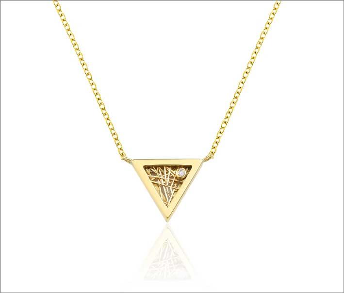Collana in oro e diamante