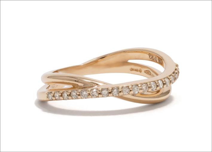 Anello Noi in oro rosa e diamanti