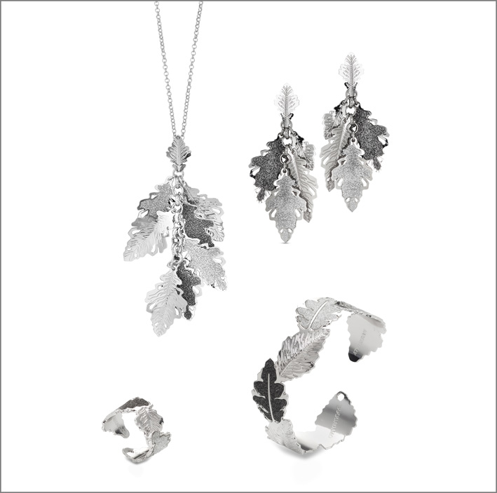 Collezione Natura, argento e glitter