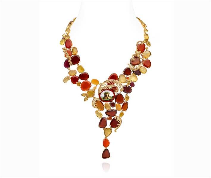 Collana della collezione Chambre d'Ambre di Lydia Courteille