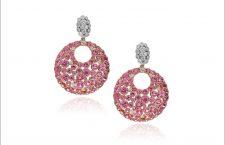 Orecchini con zaffiri rosa e diamanti