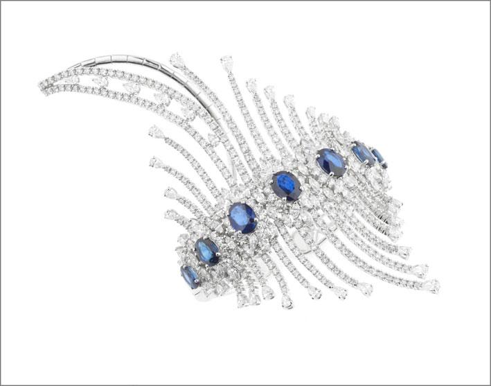 Bracciale della collezione Reign Supreme con diamanti e zaffiri
