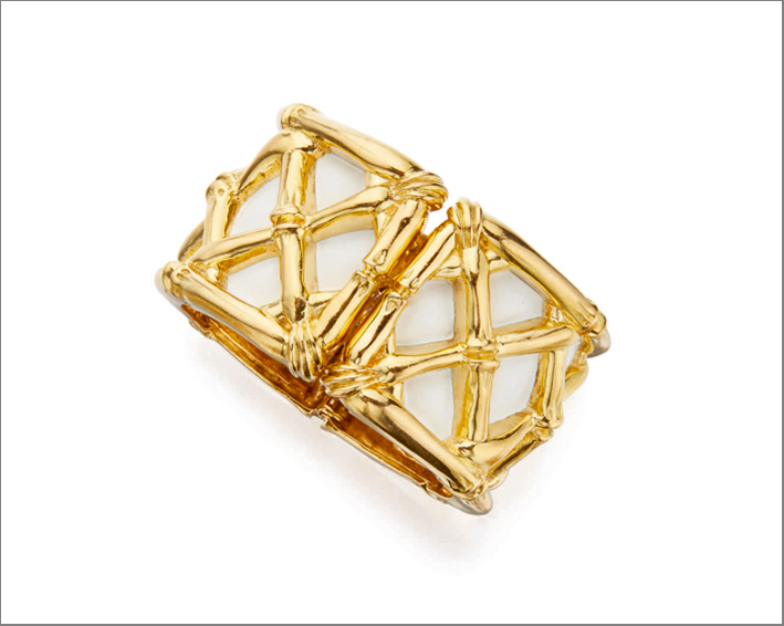 Gold and enamel cuff bracelet, David Webb