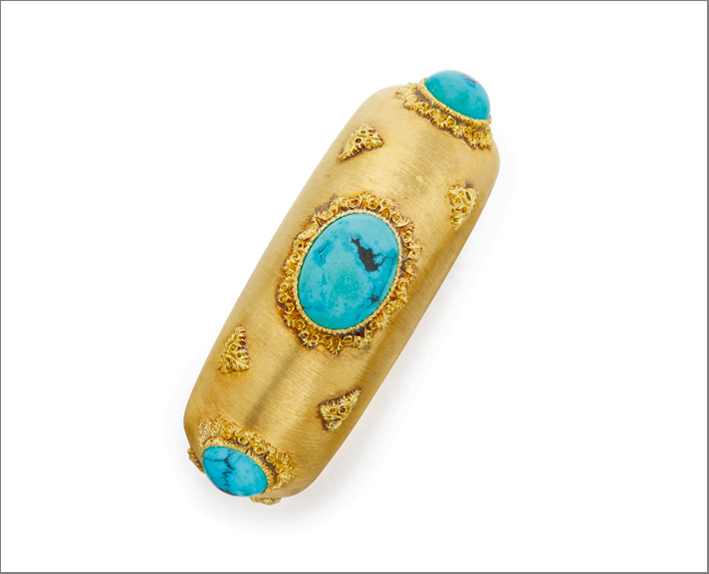 Gold and turquoise cuff bracelet, Buccellati