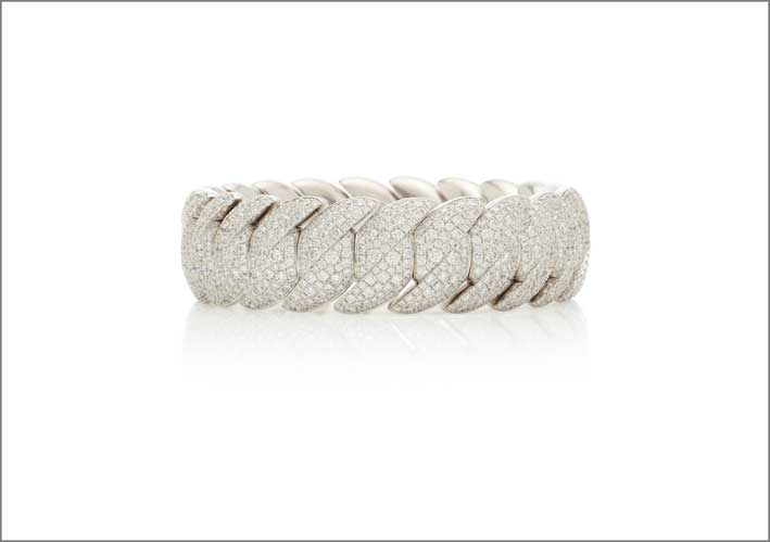 Bracciale in oro bianco e diamanti