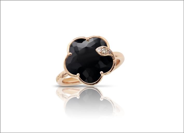 Petit Joli, anello in oro rosa, onice e diamanti