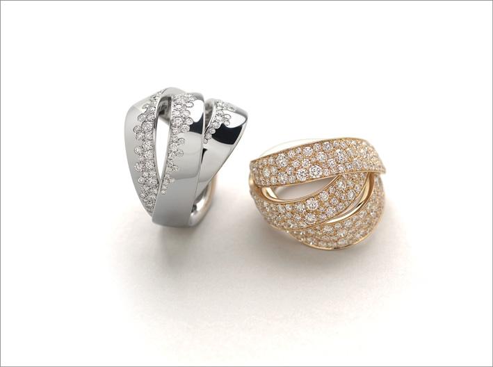 Anelli con diamanti