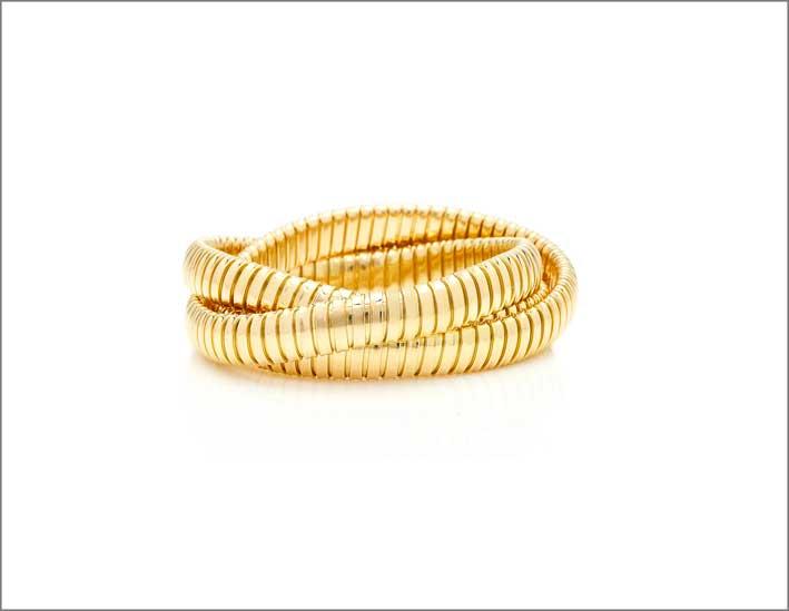 Bracciale in oro 18 carati tubogas