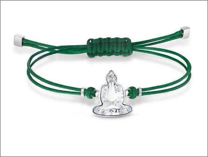 Bracciale a laccio con sagoma di Buddha