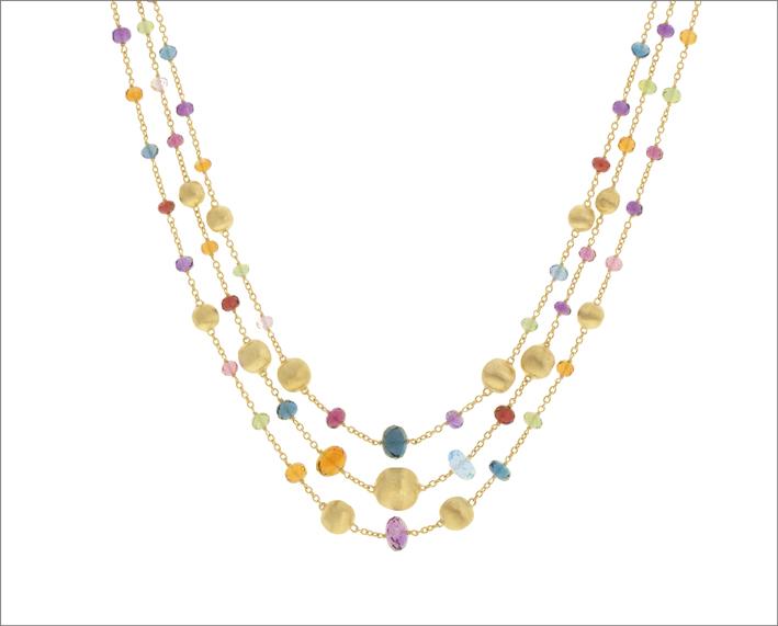 Collane in oro e gemme colorate