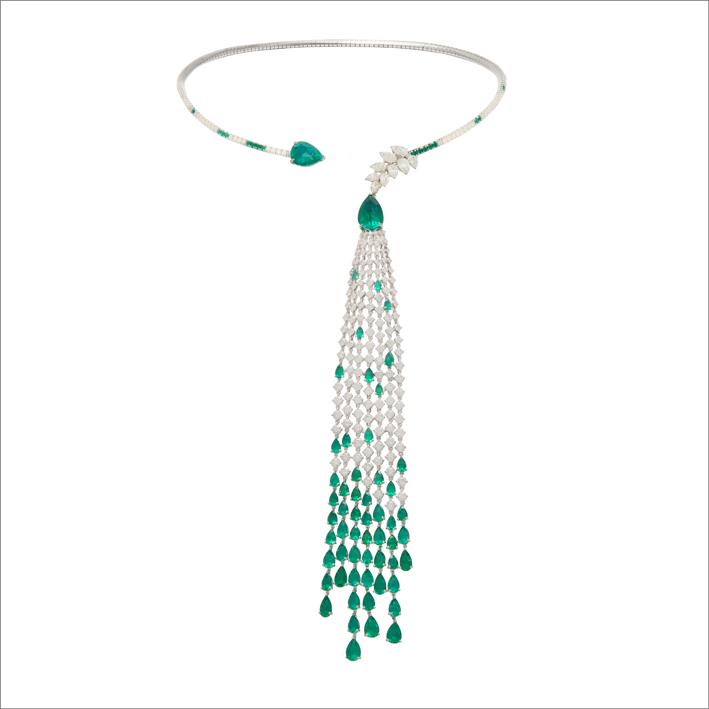 Collana con diamanti e smeraldi di Gismondi 1754