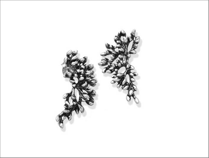 Orecchini in argento Berries