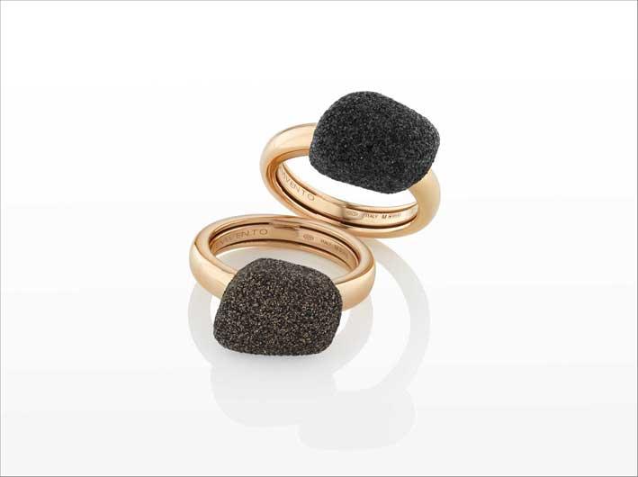 Anelli della collezione Stones & Dna Spring