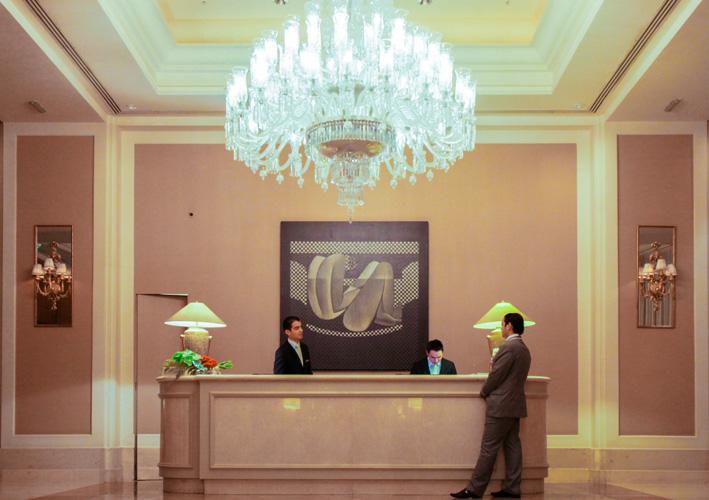 Reception in hotel