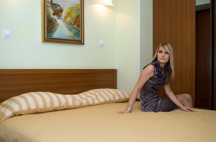 Nella stanza di hotel