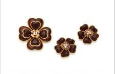 Van Cleef&Arpels, set in legno e diamanti