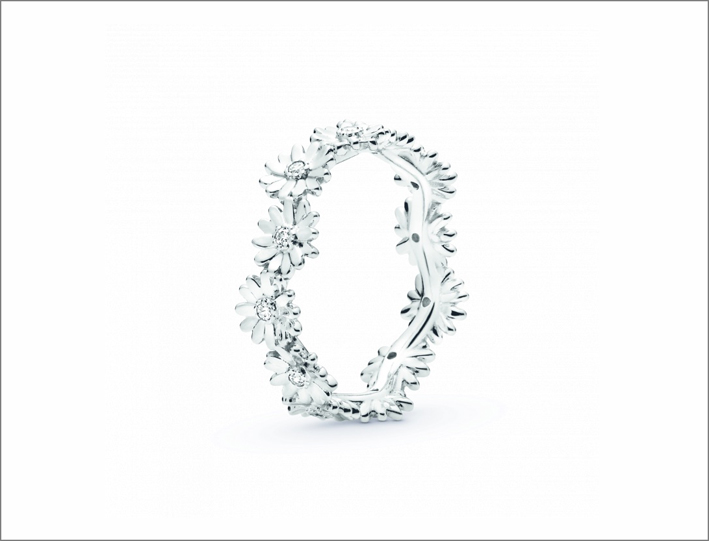 Anello in argento con margherite Pandora