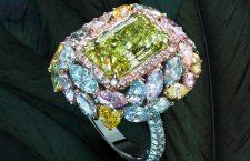 Anello con diamante chamaleon