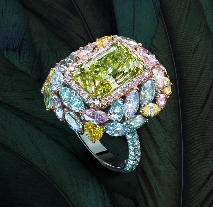 Anello con diamante chamaleon di Chatila