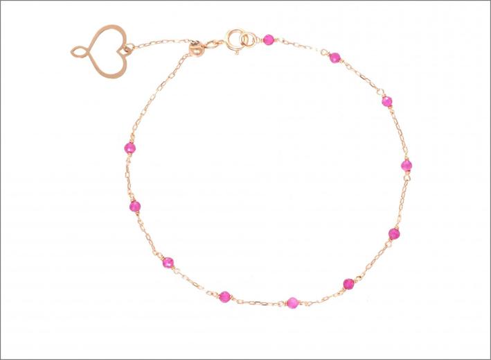 Bracciale Aurum in oro rosa e rubellite