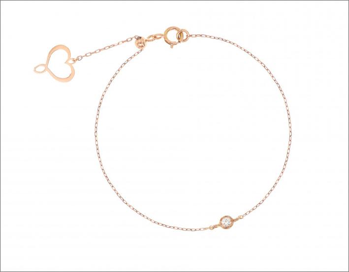 Bracciale Aurum in oro rosa e punto luce