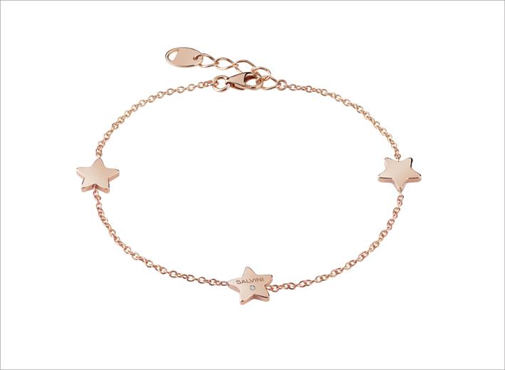 Bracciale in oro rosa Stella