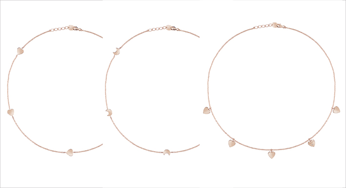 Tre collane della collezione I Segni