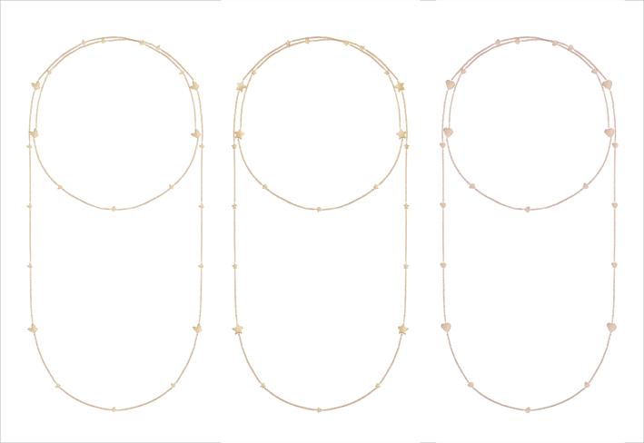 Tre sautoir della collezione I Segni