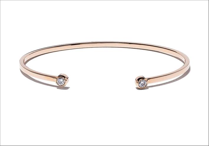 Bracciale Mademoiselle Else in oro rosa 18kt e diamanti