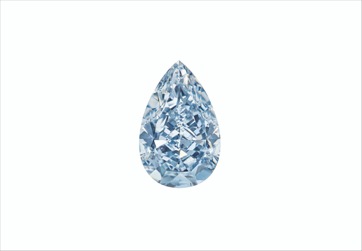 Diamante blu intenso di 7,16 carati