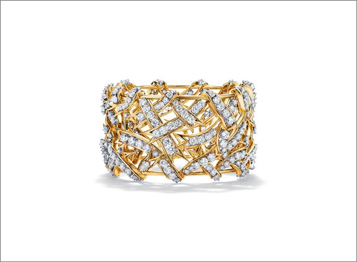 Bracciale di Jean Schlumberger  in oro 18 carati e platino con brillanti